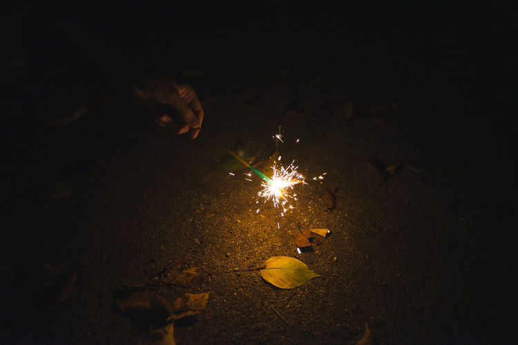 A delicate spark Delicate Delicate Beauty Detail Event Firework - Man Made Object Glowing Hibana Japan Leaves Park Small Sparks First Eyeem Photo