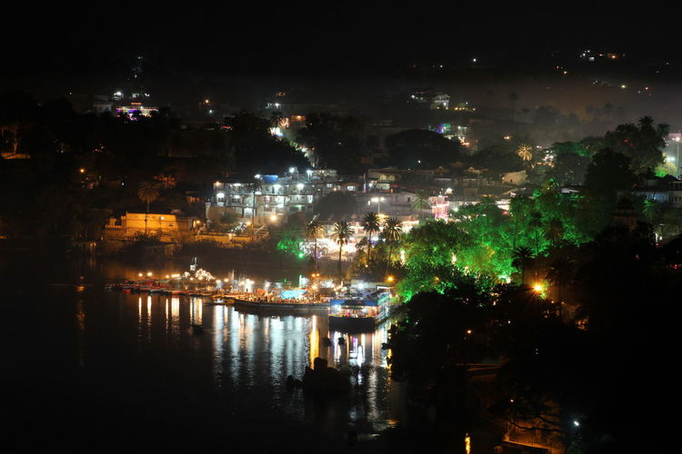 Night Reflection No People Multi Colored Water Cityscape Outdoors City Mount Abu Rajasthan, India Sky