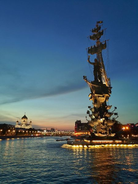 City Water Sea Cityscape Sunset Illuminated Sky Architecture Building Exterior Built Structure