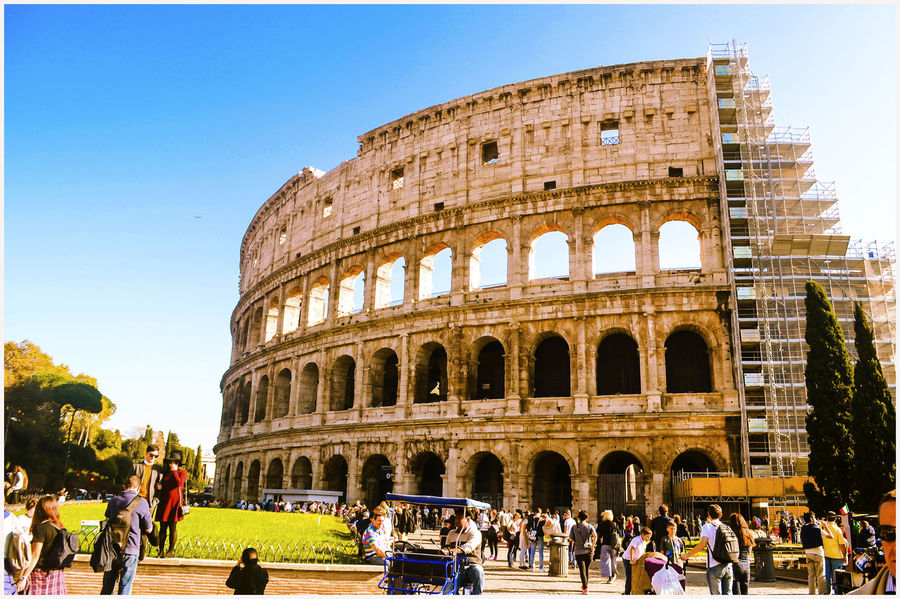 Justclick Kaushalgokarankar'sphotography Travelphotography Outdoors Italy 🇮🇹 Let's Go. Together. Colloseum In Rome Rome Italy🇮🇹 Built Structure Ancient Architecture History