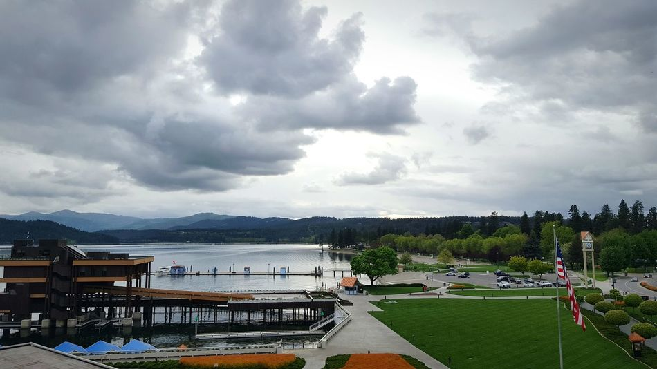Lake Coeur D'Alene Resort Downtown Parking Garage View Green Blue