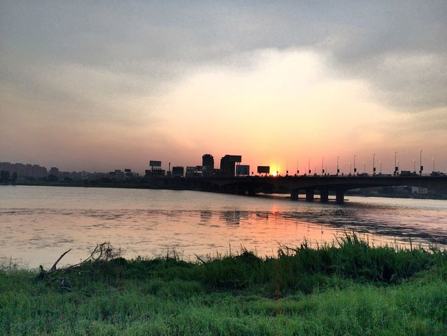 Maadi Nile River Sunset Adapted To The City