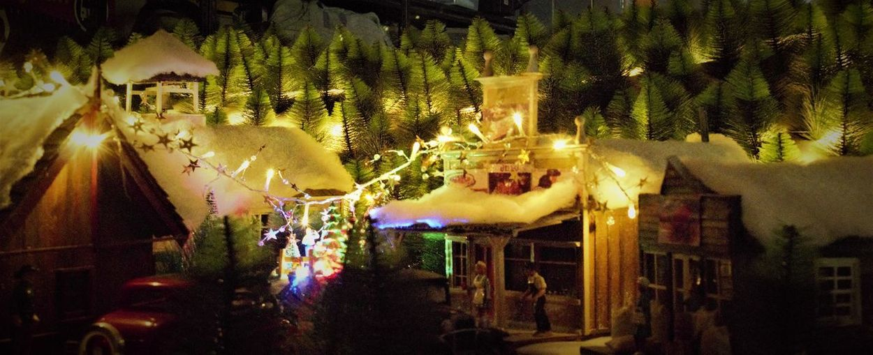 40s Style Artistic Carousel Christmas Themes Country Town Scene Creative Hand Made Hobby Hobby Ideas Home Made Illuminated Model Railroad Model Town Night