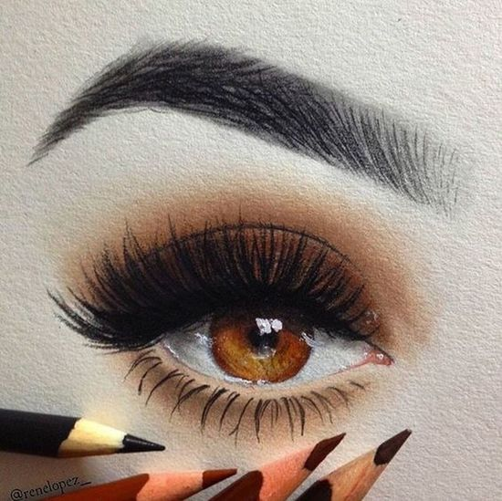 #hazemgarip New Drawing Eyelash Human Body Part Make-up Body Part Eye Human Eye Close-up
