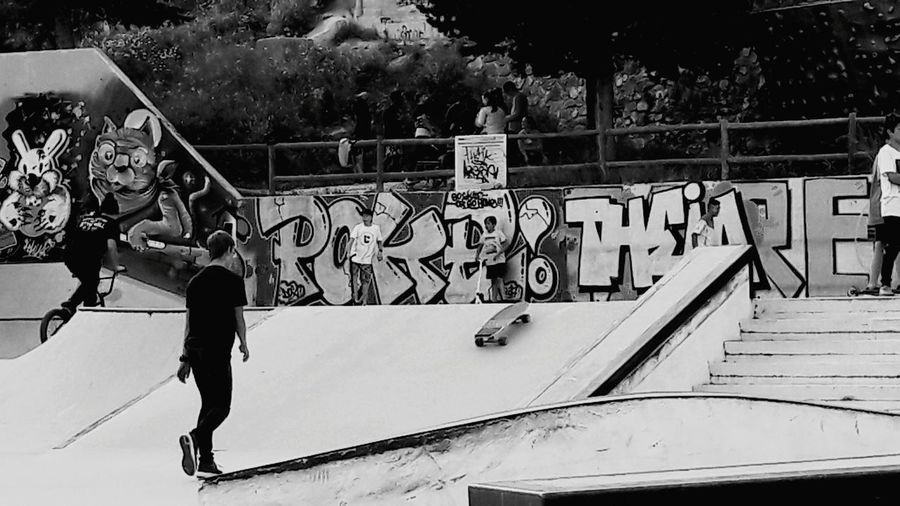 No People Skateboard Park Graffiti Sport Skill  Sports Ramp Outdoors Day Youth Culture Skateboard Real People Arroyo De La Miel Benalmádena, Malaga, Spain Lifestyles RISK Challenge People Sportsman Extreme Sports Full Length Black And White Collection  Blackandwhitephoto Blackandwhite Photography Railing