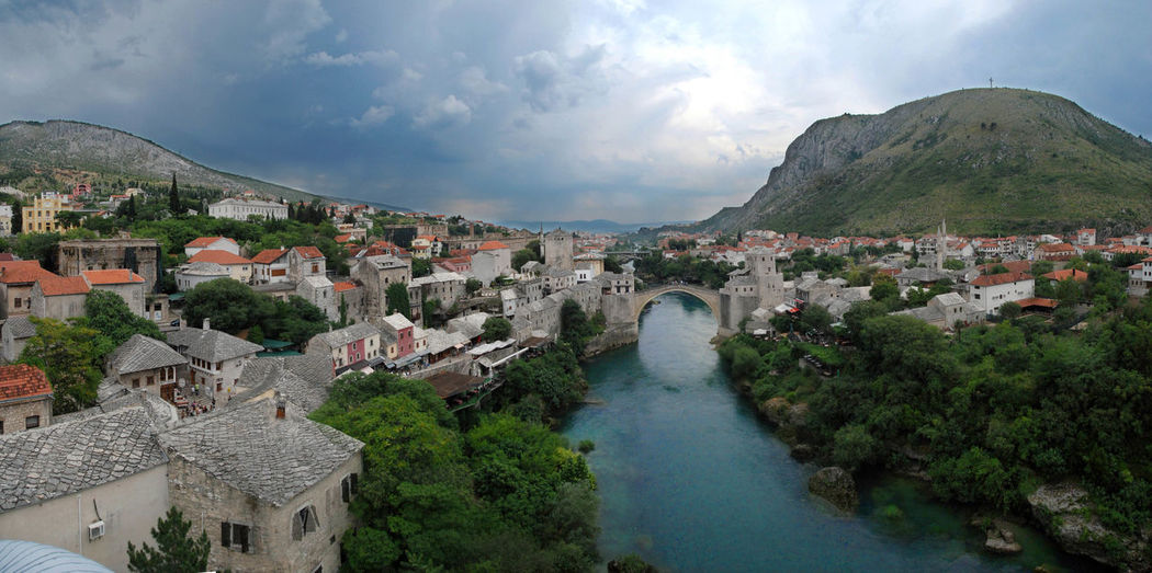 Mostar Mostar Bosnia Mostar Bridge Mostar Pan Old Bridge Old City Old Town Panorama River In The City River In The Mountains River View