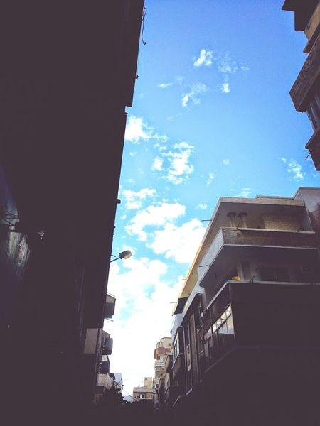 Sky Clouds Buildings Blue Sky