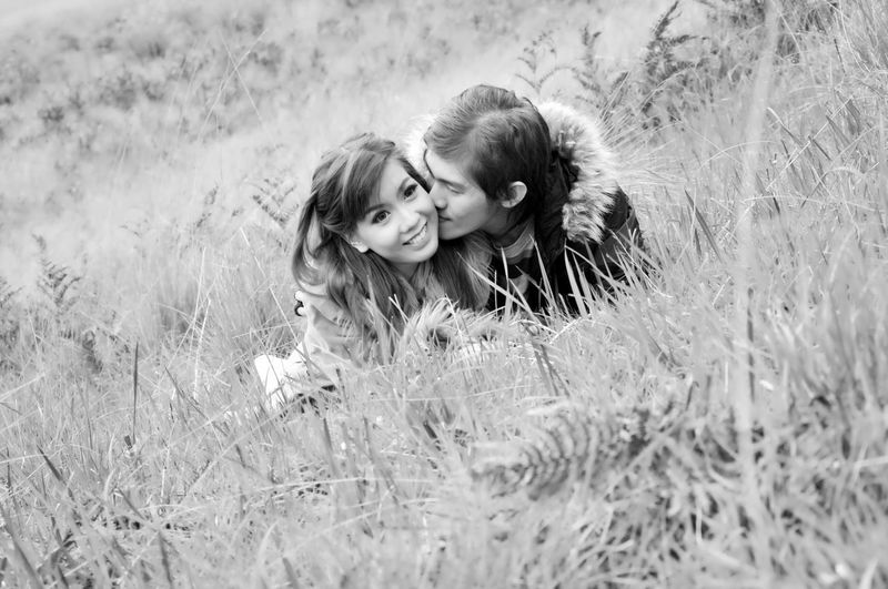 Togetherness Love Happiness Grass Prewedding People Summer Leisure Activity Affectionate Couple Portrait Chinese Love Photography Relationship Couplegoals Couplesphotography Blackandwhite Photography Love Marriage  EyeEmNewHere Perspectives On Nature Be. Ready. EyeEm Ready