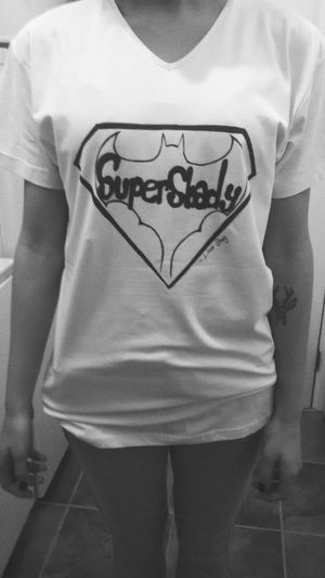My tshirt desing Batman Superman MarshallMathers Eminem Slimshady Supershady Desing Tshirt Mytshirt Slim Shady