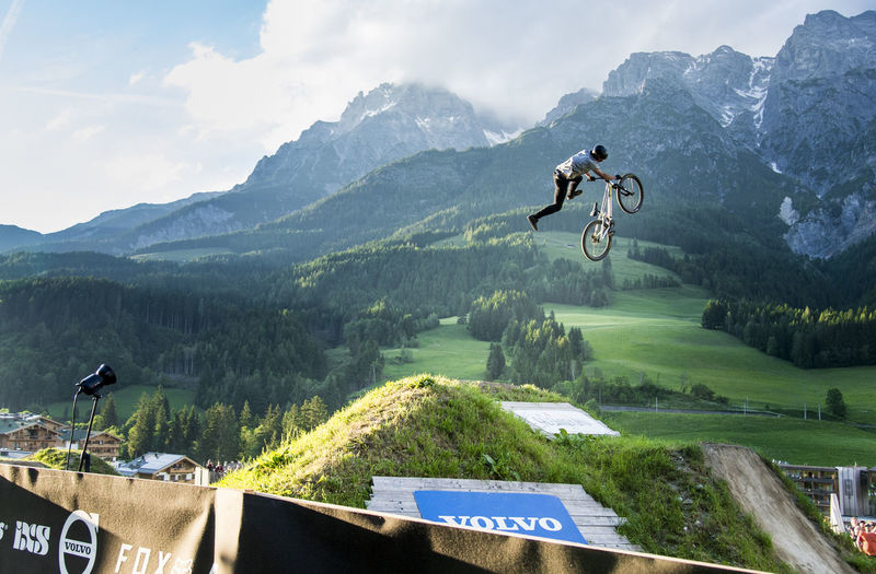26trix Adventure Bikepark Day Extreme Sports FMB Jump Jumping Leogang Saalfelden Mid-air Mountain Mountain Biking Mountain Range Nature Outdoors RISK Scenics Sky Slopestyle Sport Stunt