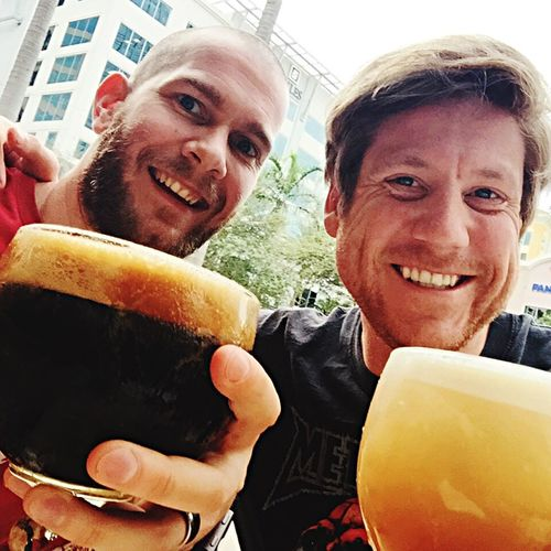 Buddy Picture with Beer and My Best Friend . Win 2015 In 365 Photos / Open Edit
