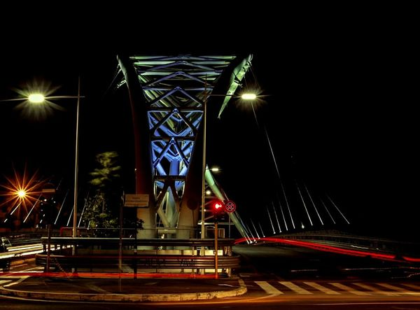 Night Architecture Transportation City Speed Travel Destinations Road No People Bridge - Man Made Structure Suspension Bridge Travel Canon Rome Italy Photostreet City Architecture City Life Italianeography Mobility In Mega Cities