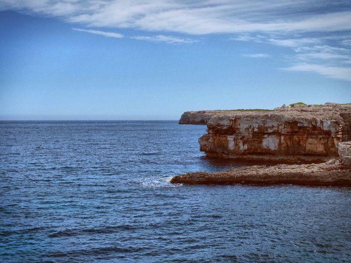 Cliffs near Cala Brafi, Mallorca