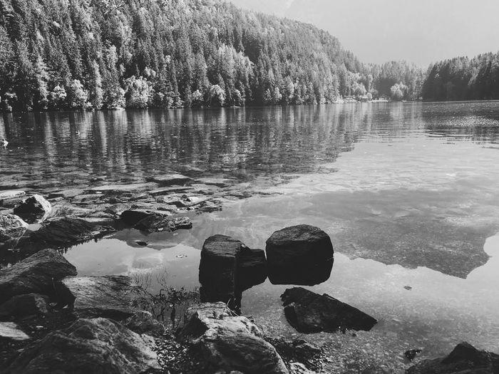 Austria Mountains Landscape Lake View Alps Austria Tyrol VSCO Blackandwhite Water Vscocam