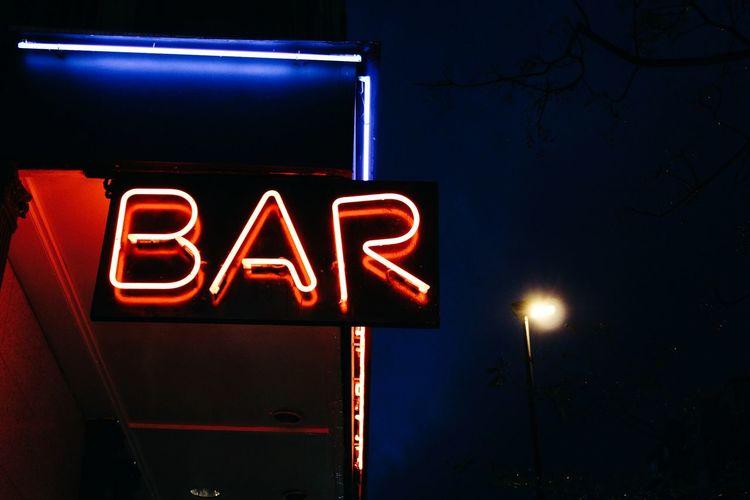 Illuminated Bar Text
