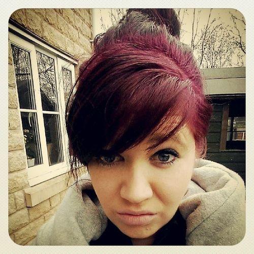 Cba today! Retardface Cba Garden Selfie pink hair nosmile work notonebit
