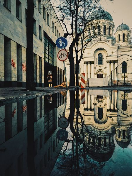 Reflections of Soboras // iPhone 6 IPhoneography Soboras Church Mirror Reflection City Kaunas