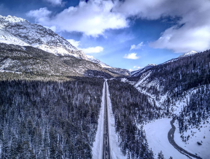Drone  Aerial Photography Beauty In Nature Cloud - Sky Cold Temperature Day Dronephotography Engadin Landscape Mountain Mountain Range Nature No People Outdoors Scenics Sky Snow Snowcapped Mountain Tranquil Scene Tranquility Water Weather Winter