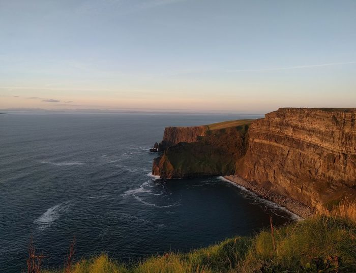 Cliffs of Moher Cliffs Of Moher  Water Sea Sunset Sky Horizon Over Water Landscape Cliff Coastline Coast