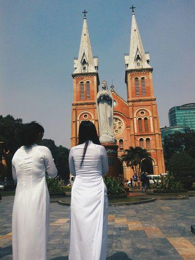 Saigon Nhathoducba Old Structures South Vietnam AodaiVietNam ❤️ Beautiful Day City
