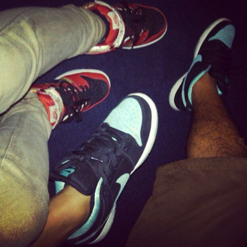 Nikesblinoleums for me and NikeSBJadePack for him ♥ Nike Nikeph Couple Shoes Snickers Feet Rockem