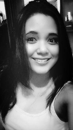 black and white Enjoying Life Selfie
