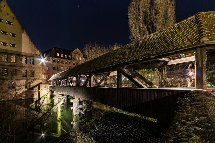 Der Henkersteg Henkersteg Nightphotography Historic Holzbrücke Pegnitz Reflections Reflections In The Water EyeEmNewHere Adventures In The City The Street Photographer - 2018 EyeEm Awards