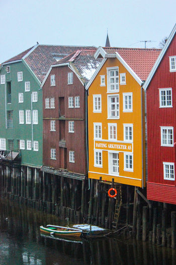 Architecture Building Exterior Day Gamlebybro Multi Colored No People Norway Outdoors Trondheim Water