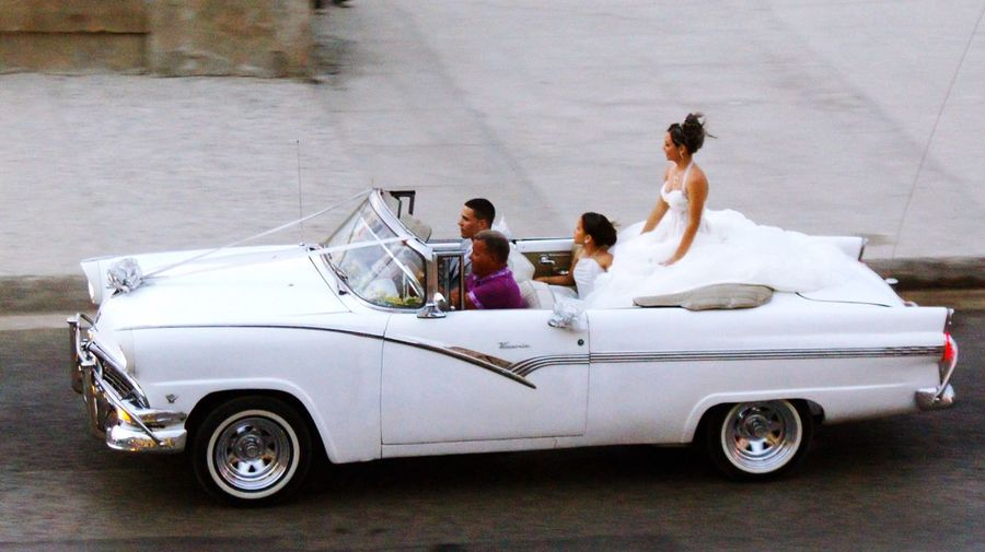 Been There. Havana Cuba Cuba Collection Car Transportation Mode Of Transport Real People Togetherness Love Land Vehicle Bride Women Men Day Lifestyles Wedding Wedding Dress Childhood Full Length Antique Car Malecón, La Habana Malecon Oldtown Vintage Cars