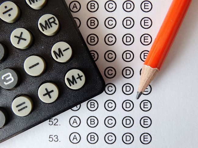 Calculator and pencil on paper. No People Close-up Indoors  Day Pencil Paper Calculator Math Maths Exam Exams Test Tests School University Education College Calculation Exam Paper Numbers Number