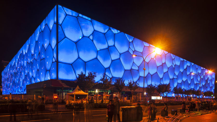 Crystal Square Night view Crystal Square HUAWEI Photo Award: After Dark Nightphotography Architecture Blue Building Exterior Built Structure City Dusk Illuminated Light Lighting Equipment Night Night View Sky