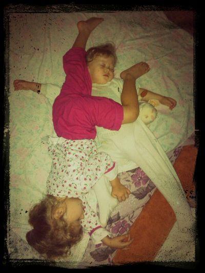 Дети спят, они устали... Мы им спать мешать не стали )))