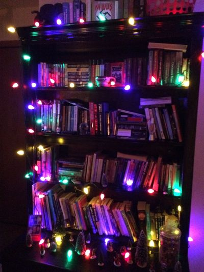 once upon a ..... christmas . Bar - Drink Establishment Book BOOK SHELF Christmas Lights Illuminated Indoors  Multi Colored Night Nightclub No People