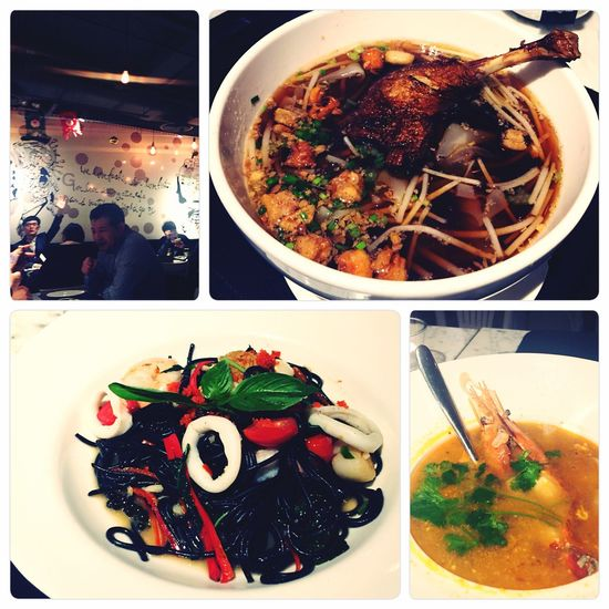 Fusionfood Thai Food Italian Food Withravioli Squid Ink Pasta Duck Drumstick Noodles Xintiandi Dinnertime Winter Hot Food