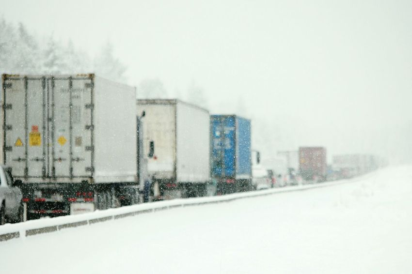 Transportation in Washington. Snowstorm Stuck In Traffic Traffic Traffic Jam On The Way Transporting Traveling Driving Highway Mein Automoment Highways&Freeways Miserable Commerce Transport My Commute Blizzard Whiteout Snowing Colour Of Life Pacific Northwest  Weather Stormy Weather The Photojournalist - 2016 EyeEm Awards