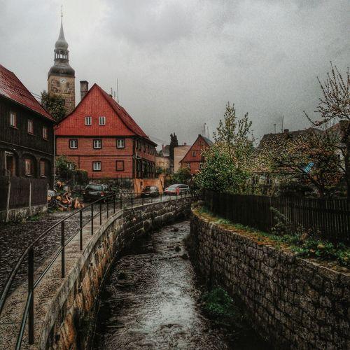 Urban Landscape Urbanphotography Hdr Edit Hdr_Collection TOWNSCAPE River Churchtower Rainy Days Springtime Chřibská