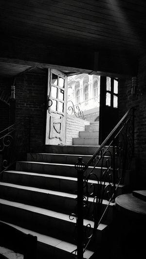 Dark Doors Stairs Day