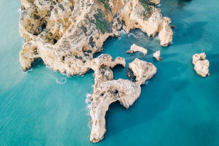 Algarve Atlantic Atlantic Ocean Coastline Drone  Lagos Ponta Da Piedade Tourist Attraction  Aerial View Algarve, Portugal Beach Beauty In Nature Blue Blue Water Coast Day Dji High Angle View Nature No People Outdoors Rock - Object Scenics Sea Seaside Sky Tranquil Scene Tranquility Water Waterfront