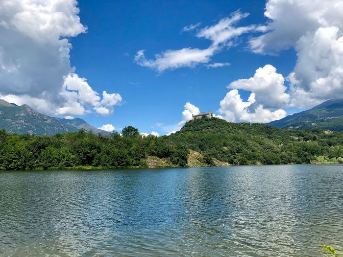 Castle of Montalto Dora, Montalto Dora, Italy 22/07/2018 Italy Castle Montalto Dora Lago Pistono Piemonte ShotOnIphone Nofilter Cloud - Sky Sky Water Beauty In Nature Tree Scenics - Nature Tranquility Tranquil Scene Plant Day Lake Mountain Nature No People Waterfront Idyllic Growth Non-urban Scene Outdoors