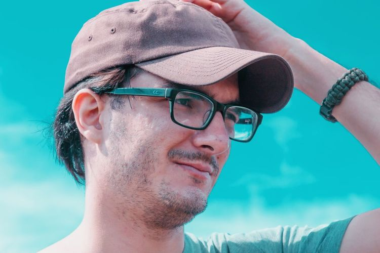 EyeEm Selects One Man Only Only Men Headshot One Person Adults Only Adult Mid Adult Mid Adult Men Eyeglasses  People Human Face Human Body Part Portrait Young Adult Men Side View Day Close-up Swimming Pool One Young Man Only Be. Ready.