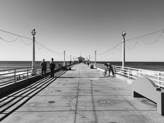 Manhattan Beach Losangeles California Beach Blackandwhite Blackandwhite Photography