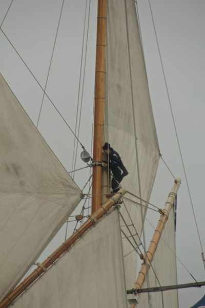Tending the topsail Old Clothes Schooner Virgina Topsail Architecture Day Fog Industry Manual Worker Masts Outdoors People Real People Rigging Sailor Sails Schooner Up In The Rigging Working Yardarm