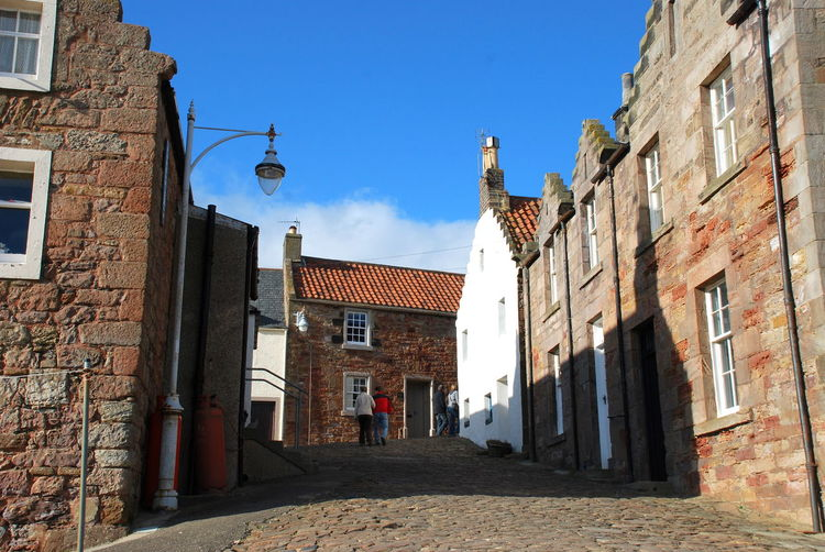 Crail, Scotland. East Fife Fishing Village Old Lampost Architecture Building Exterior Built Structure City Day No People Outdoors Scottish Harbour Sky Steep Streets