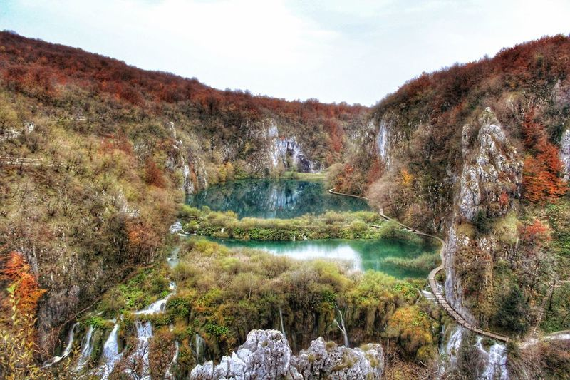 Nature Reflection Beauty In Nature Landscape Beauty In Nature Plitvice Lakes National Park Waterfall Water Autumn Outdoors