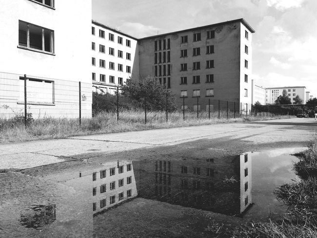 Building Exterior Prora Rügen Urbexexplorer Urban Landscape Reflection Reflection_collection Architecture_bw Blackandwhite Black & White