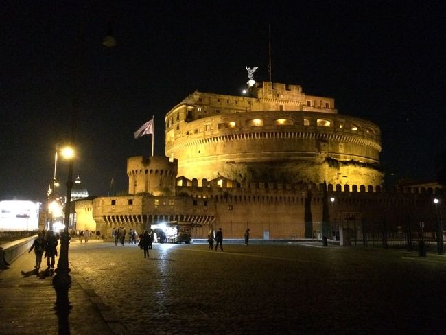 Vatican, vatican city, Sant'Angelo Castle, outubro/2015 Architecture Astronomical Clock Building Exterior Built Structure City City Gate History Illuminated Italy Night No People Outdoors Rome Sant'angelo Sky Tourism Travel Travel Destinations Vatican Water
