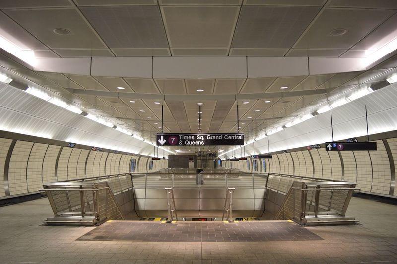Interior of modern railroad station