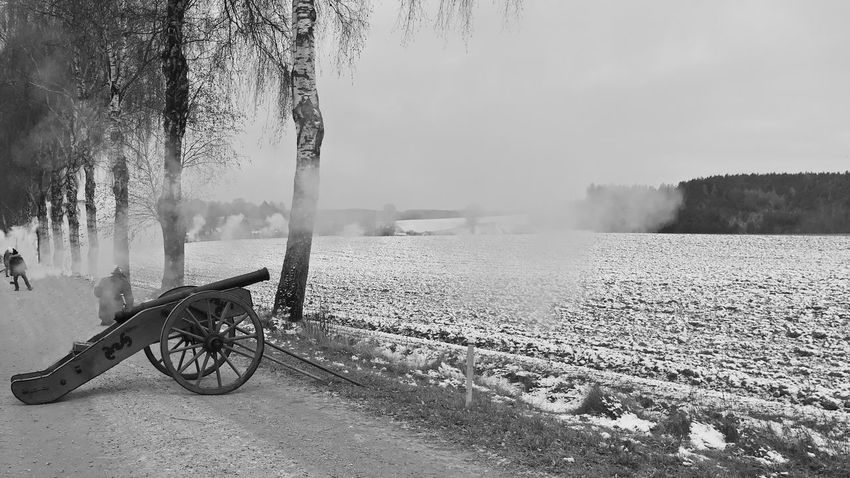 Impressions of the Barbaraschießen Gun Barbaraschießen Beauty In Nature Cannon Cold Temperature Day Environment Field Fog Land Land Vehicle Nature No People Old Tradition Outdoors Plant Transportation Tree Tree Trunk Trunk Wheel Winter
