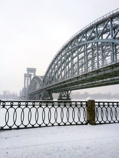 Architecture Built Structure Connection Bridge Bridge - Man Made Structure Transportation A New Perspective On Life Railing Sky Cold Temperature Winter Nature Engineering Travel Destinations Day Outdoors City Snow Water