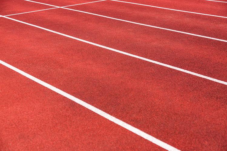 Full frame shot of running tracks